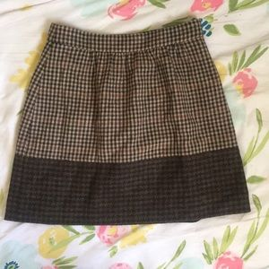 J. Crew Brown Tweed Miniskirt